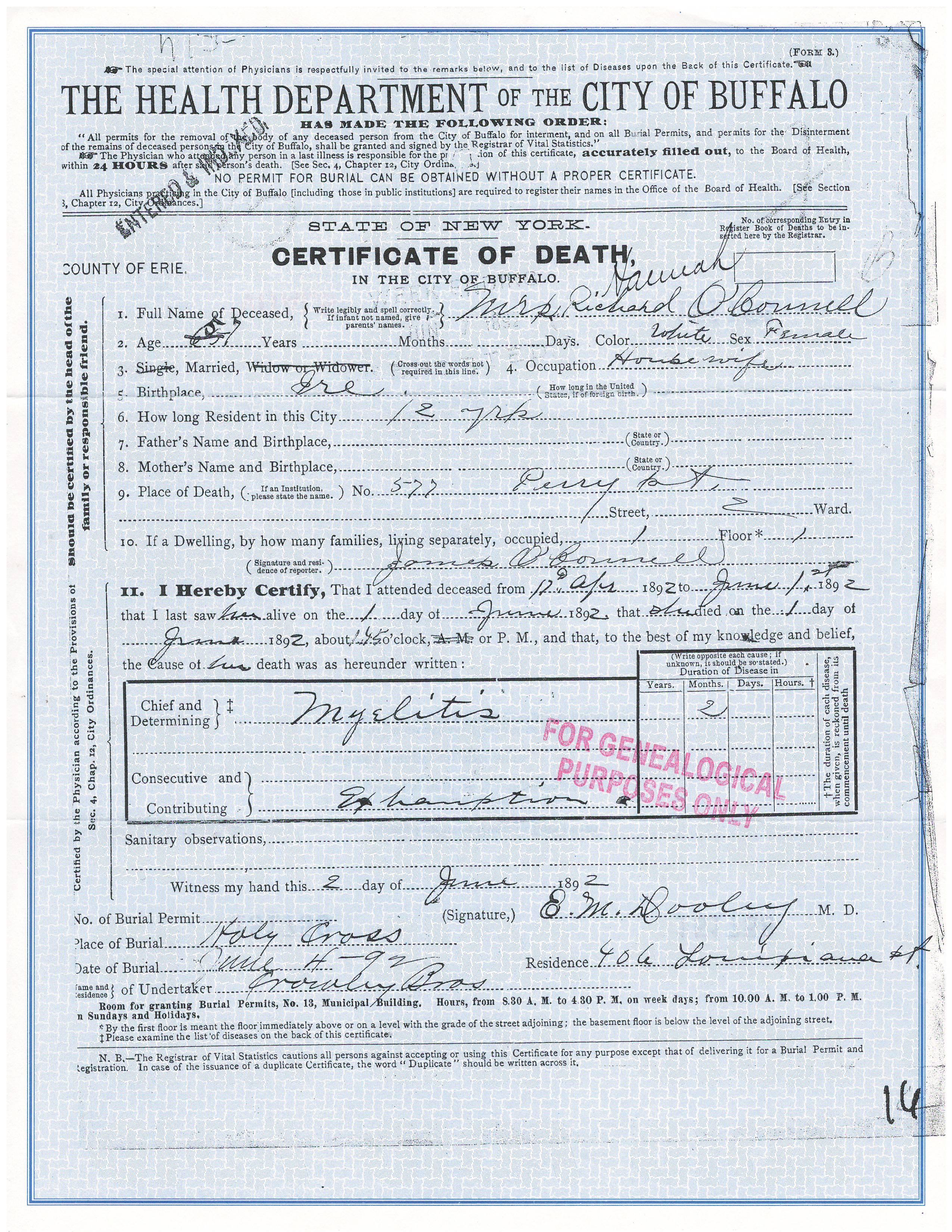 Johanna Kennedy Death Record.JPG